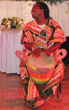 Master Drummer Sibo in Traditional African Dress