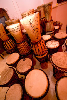 A drum for each guest...